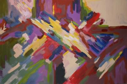 BARBARA LICHTenegger, Dynamik, 2014, Öl auf Leinwand, 150 x 100 cm