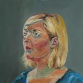 Blond (50 x 50 cm, 2014, Öl auf Leinwand)