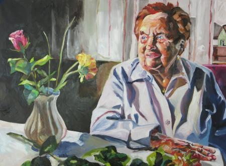 BARBARA LICHTenegger, Großmutter, 2014, Öl auf Leinwand, 60 x 80 cm