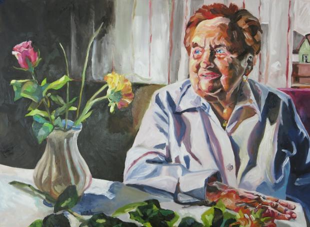 Barbara Kimeswenger, Großmutter, 2014, Öl auf Leinwand, 60 x 80 cm